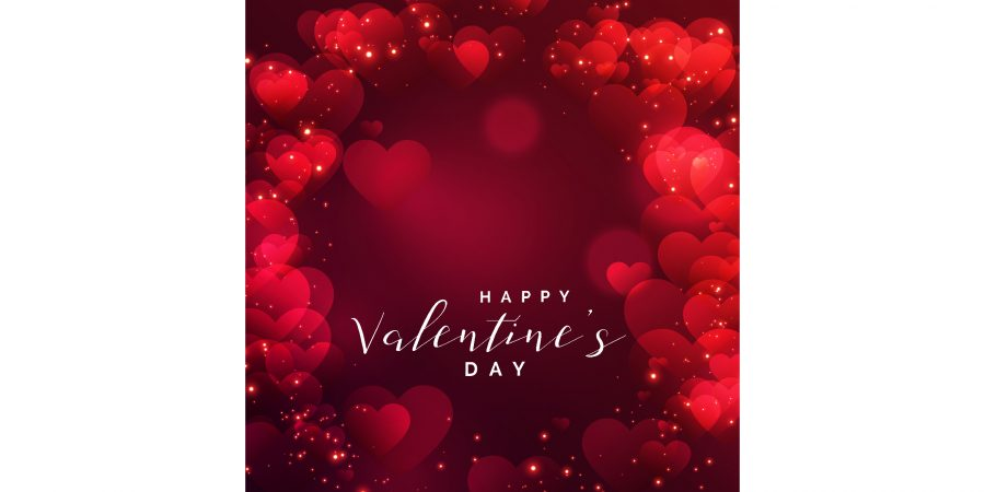 beautiful hearts frame valentines day free vector