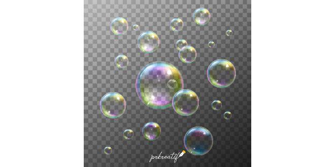 Soap Bubbles Set Vector